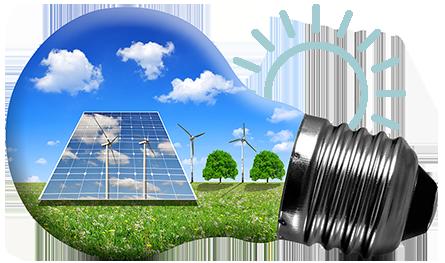 lampadina con pannelli solari fotovoltaici